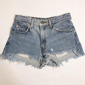 Vintage Levi's orange tab high waisted jean shorts